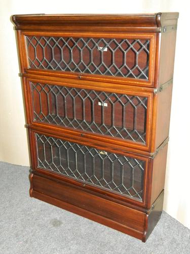 mahogany Globe Wernicke stacking bookcase / sectional bookcase (1 of 7)
