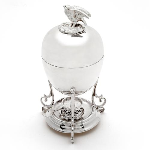 Victorian Silver Plated Egg Boiler with Chicken Shaped Finial (1 of 5)