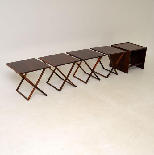 Vintage Danish Rosewood Illums Bolighus Nesting Tables (1 of 16)