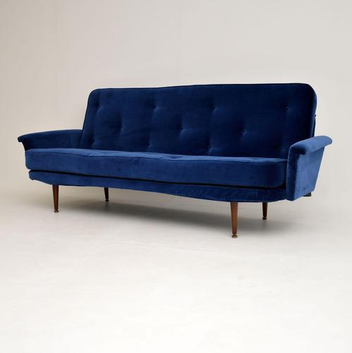 1950's Vintage Velvet Sofa Bed (1 of 12)