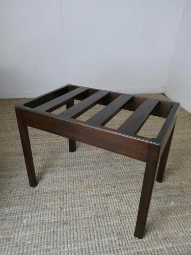 Mid 20th Century Mahogany Luggage Rack (1 of 6)