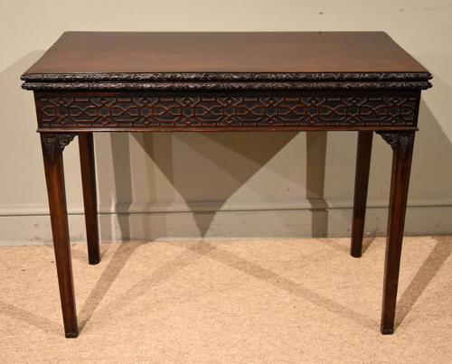 18th Century Carved Mahogany Tea Table (1 of 7)
