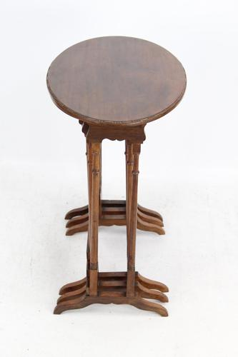 Antique Nest of 3 Mahogany Tables Manner of Gillows (1 of 12)