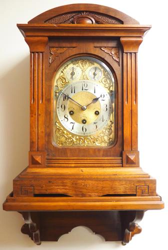 Westminster Chime Bracket Clock Art Nouveau 8-Day Musical Mantel Clock on Bracket c.1900 (1 of 9)