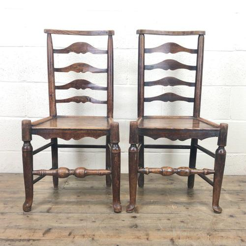 Pair of Antique Ladder Back Chairs (1 of 8)