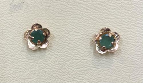 Pair of 9ct & Emerald Earrings 1979 (1 of 3)