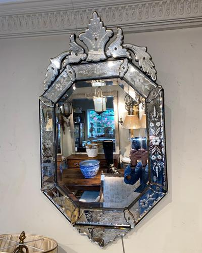 Engraved Venetian Mirror (1 of 3)