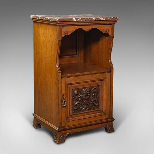 Antique Nightstand, English, Walnut, Bedside Cabinet, Gillow & Co, Victorian (1 of 12)
