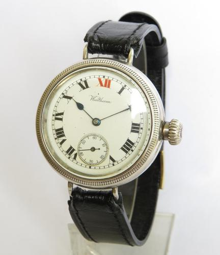 Gents Antique Silver Waltham Wrist Watch (1 of 5)