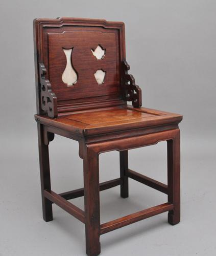 19th Century Chinese Hongmu Hardwood Occasional Chair (1 of 7)