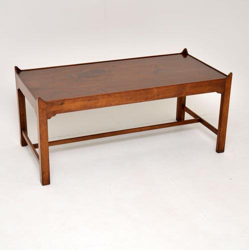 Antique Solid Mahogany Coffee Table (1 of 9)