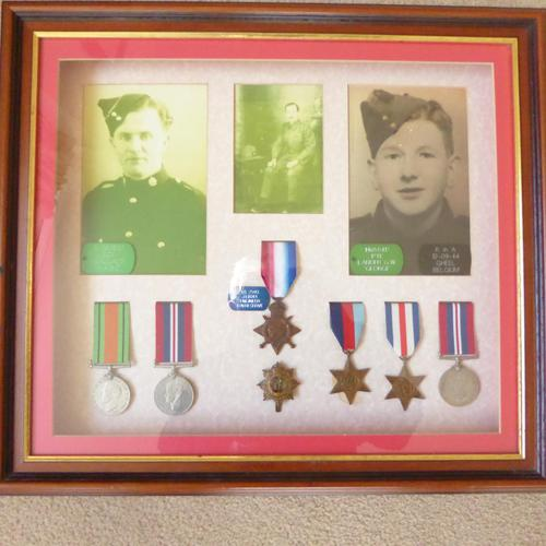 Family group of WW1/2 Medals one KIA (1 of 5)