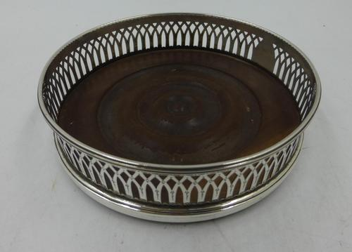 Antique George III Silver Coaster London 1791 (1 of 6)