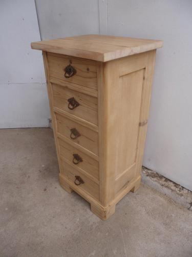 Lovely Victorian Antique Pine 5 Drawer Chest / Cabinet to wax / paint (1 of 10)