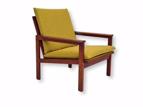 "Danish Design by Illum Wikkelsø Armchair ""Capella"" Series, 70s, Teak, Renovated-reupholstered (1 of 13)"