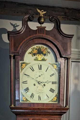 19th Cent Oak 8 Day Long case Clock (1 of 6)