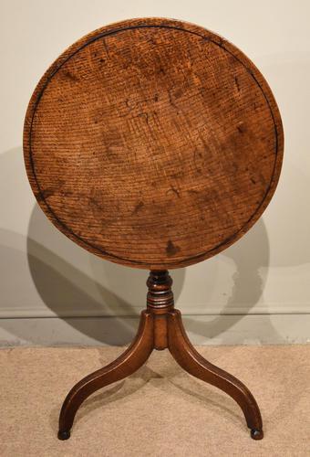 George III Oak Tilting Top Tripod Table (1 of 6)