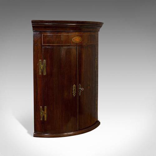 Petite Antique Corner Cabinet, English, Mahogany, Georgian Revival, Victorian (1 of 9)