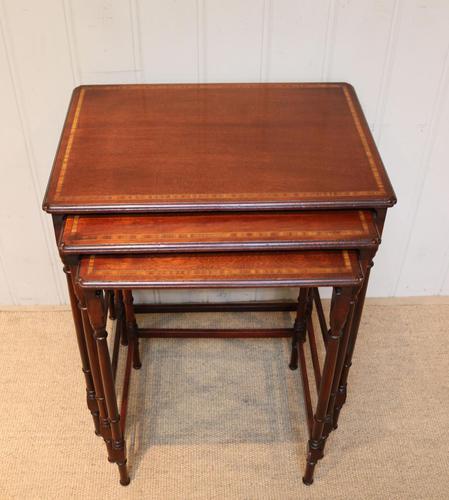 Mahogany Nest of Three Tables (1 of 11)