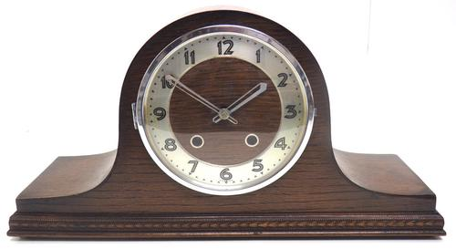 Art Deco Napoleon Hat Shaped Mantel Clock – Striking 8-day Arched Top Mantle Clock (1 of 10)