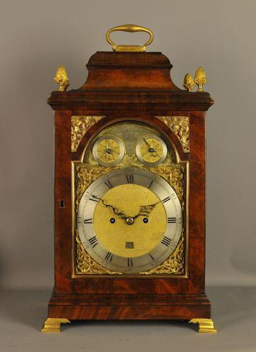 SuperiorMahogany Verge Repeating Bracket Clock - Eley, London (1 of 9)