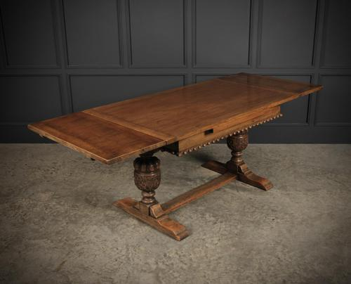 Solid Oak Draw Leaf Dining Table (1 of 6)