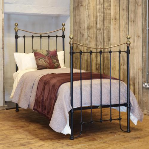 Black Victorian Single Antique Bed (1 of 4)