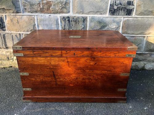Antique Brass Bound Camphor Military Campaign Chest (1 of 11)