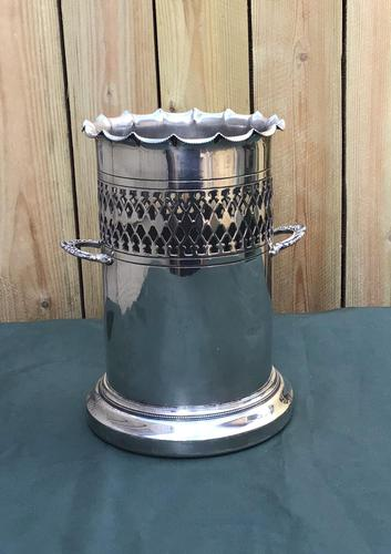 Victorian Silver Plated Two Handle Champagne /Wine Bottle Holder by Walker & Hall (1 of 3)