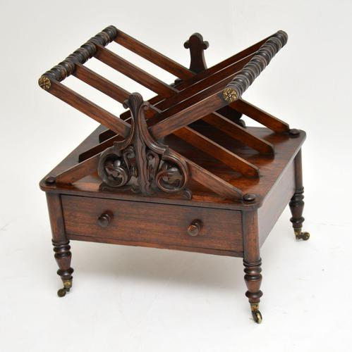 Antique Regency Rosewood Canterbury  Magazine Stand (1 of 12)