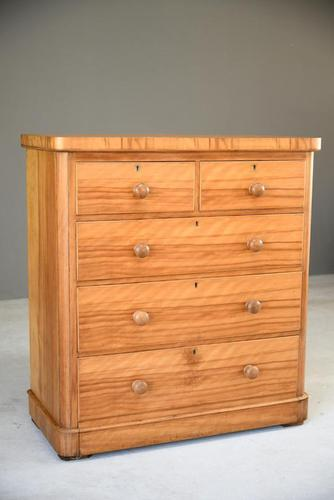 Victorian Satin Birch Chest of Drawers (1 of 12)