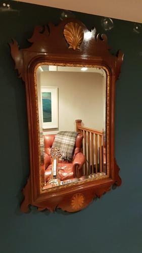 Antique Sheraton Inlaid Wall Mirror (1 of 5)