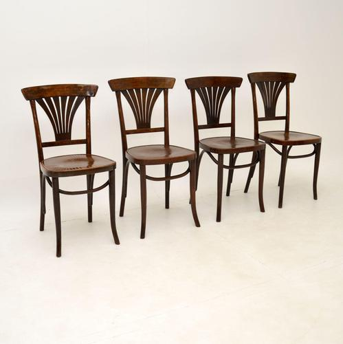 Set of 4 Antique Bentwood Cafe Dining Chairs (1 of 12)