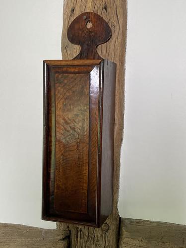 George III Oak Hanging Candle Box (1 of 8)