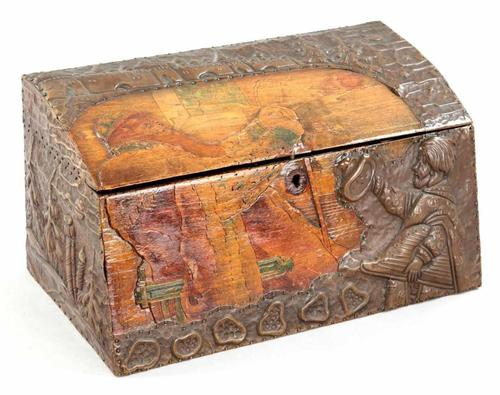 Antique Russian Wood Box with Basma Abramtsevo - Very Large (1 of 13)