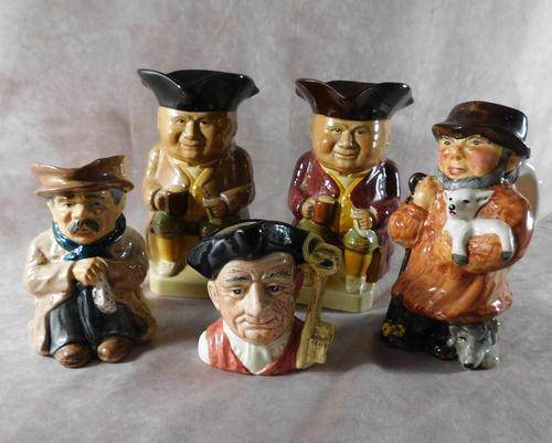 A Group of Five Character & Toby Jugs (1 of 12)