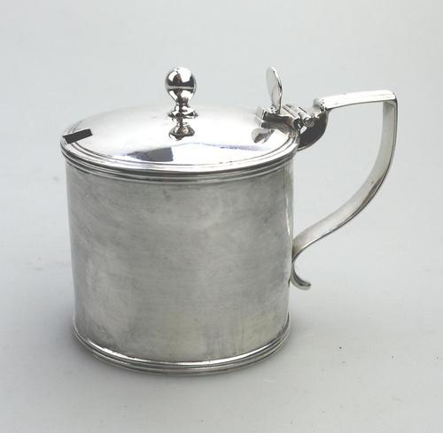 Large Georgian Solid Silver Drum Mustard Pot London William Abdy II 1805 (1 of 8)