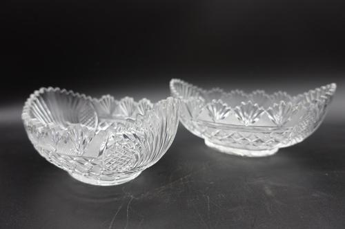 Pair of Late 19th Century Boat Shaped Sweetmeat Jars (1 of 9)