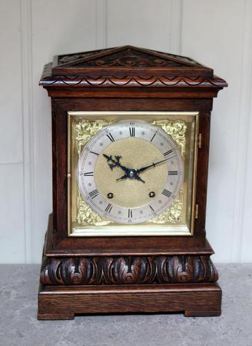 Solid Carved Oak Bracket Clock (1 of 11)