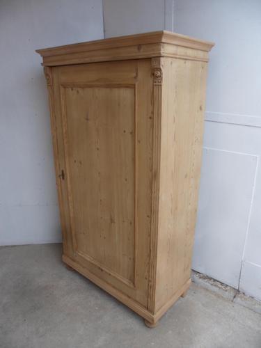 Victorian Wide Antique Pine 1 Door Kitchen Storage Cupboard to wax / paint (1 of 8)