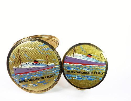 Rare Ship Themed Stratton Compact Lipstick Set (1 of 8)