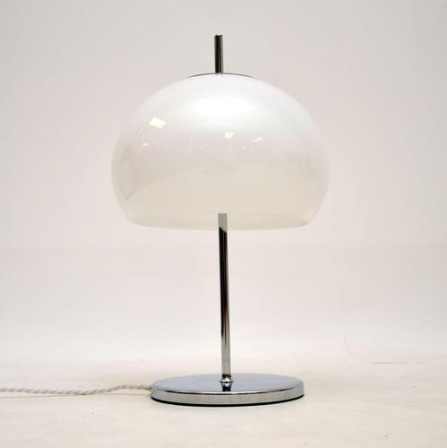 Vintage Italian Harvey Guzzini Chrome Table Lamp (1 of 8)