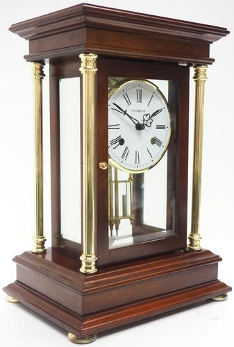 Howard Miller Signature Series Mantel Clock visible pendulum 4 Glass Mantle Clock (1 of 12)