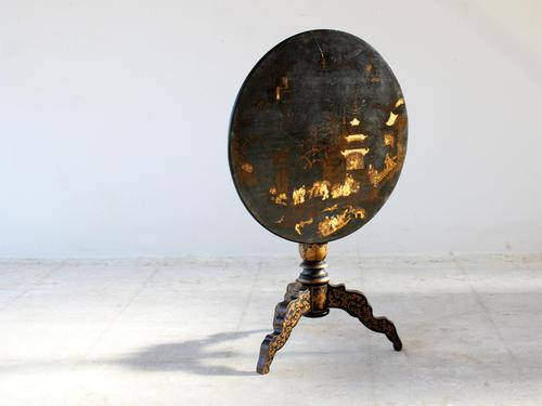 19th Century Napoleon III Chinoiserie Tilt-Top Occasional Table (1 of 8)