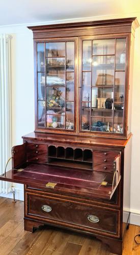 Regency Style Mahogany Secretaire Bookcase c.1840 (1 of 4)