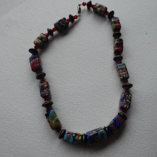 Venetian Glass Millefiore Bead Necklace (1 of 11)