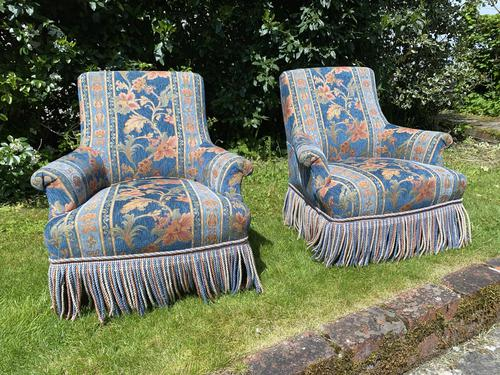 Pair of Small French Armchairs (1 of 8)