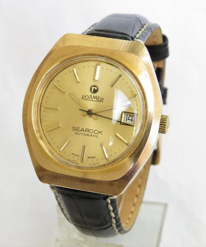 Gents 1970s Roamer Searock Wrist Watch (1 of 4)