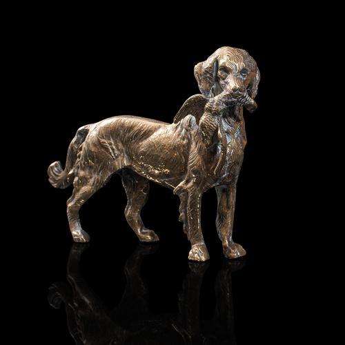 Antique Retriever Statue, English, Brass, Decorative, Dog Ornament, Victorian (1 of 12)