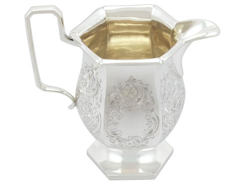 Sterling Silver Water / Cordial Jug - Antique George V 1929 (1 of 9)